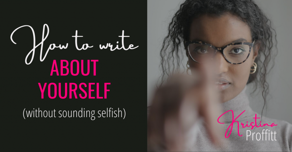 How to write about yourself without sounding selfish social share image