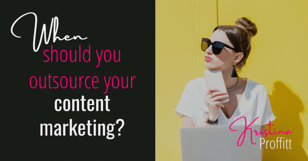When should you outsource your content marketing social share image